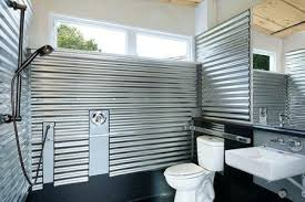 showers open shower stall tiled galvanized steel tiny house bathroom incredible ideas walk in enclosure