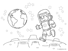Il A March Sur La Lune Coloriage Sciences Gratuit Sur Webjunior Coloriage Dessin Lune L