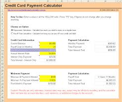 Calculator Credit Card Payment Free Credit Card Payment Calculator Excel Spreadsheet