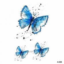 98x6cm Akvarel Motýl Dočasné Tetování Nálepka Vodotěsné ženy Fake Tetování Muži Děti Tělo Umění Horké Provedení A 034