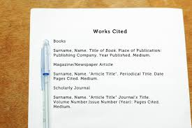 Mla Works Cited Page Poem Example Purdue Owl Mla Formatting And