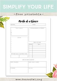 Month At A Glance Calendar Template 3 Month At A Glance Calendar Template Secret Owl Society Free
