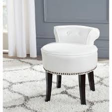 safavieh georgia white polycotton vanity stoolmcrt  the