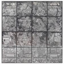 kase industrial loft dark antique mirror parisian map wall art kathy kuo home