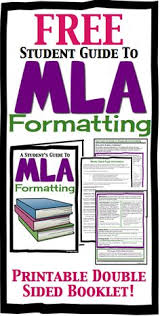 handout to help your high school students master mla mla formatting booklet for high school students by presto plans essay mla
