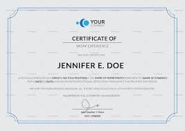 Psd Certificate Template Fresh Work Experience Certificate Template In PSD Word Illustrator 23