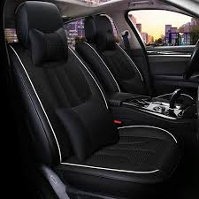 Best Car Seat Covers - Leather Car Seat Cover, Sheepskin Auto Seat ... & 18 Dark Themed Simple Design Soft Universal Fit Car Seat Covers Adamdwight.com