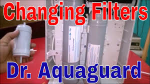 how to change pact water filters in dr aquaguard magna uv