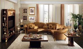 awesome white brown wood glass luxury design beautiful living room decor ideas round sofa leather cushion beautiful brown living room