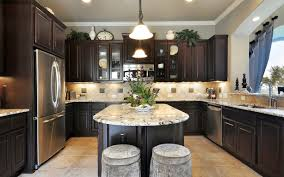 kitchen dark wood cozy popular mdf elite plus broad stripe door walnut cabinets backsplash diagonal tile