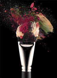 cosmetic makeup brush photographed in nyc on black background denise behrens photography rainer behrens