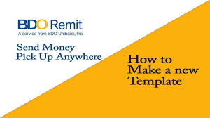 What Is Tamplate How To Make Bdo New Template To Send Money Pick Up