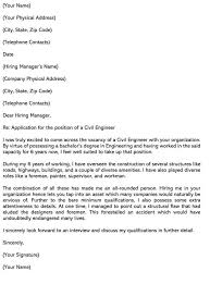 sle civil engineer cover letters