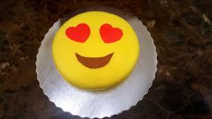 Easy Emoji Cake Recipe Using Fondant Diy How To Make An Emoji