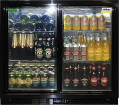 rhino 2 sliding glass door bar fridge model sg2s b wine2