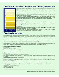 Printable Urine Output Chart Urine Color Test Chart For Dehydration Free Download