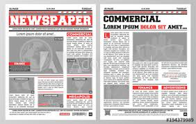 Design Of Daily Newspaper Template With Two Pages Opened And