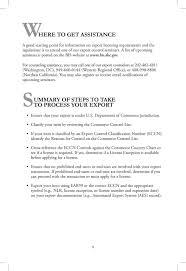 Introduction To Commerce Department Export Controls U S