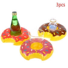 <b>3pcs</b>/<b>lot</b> Outdoor Donuts Inflatable cup <b>holder</b> Swimming Pool Party ...