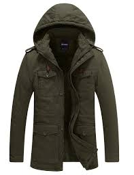 Wantdo <b>Men's Thicken Cotton</b> Parka Jacket Casual Winter Coat with ...