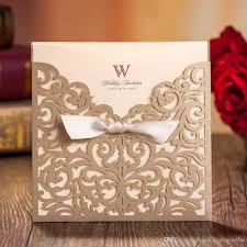 Wedding Card Design Gold Wedding Invitations Custom Invitations Romantic Personality