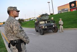 Military Police National Guard Militarized Target A Suburban War Of A Different Sort In Ferguson