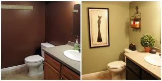 How To Paint Bathroom Cabinets Dark Brown painted bathroom ...