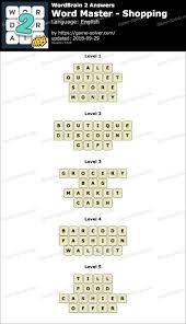 wordbrain 2 word master ping answers