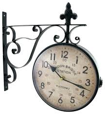 double sided station clock double sided railway