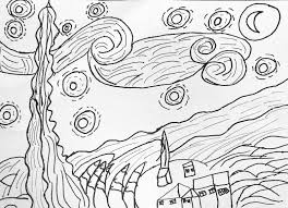 Small Picture Van Gogh Starry Night Coloring Page Top Van Gogh Starry Night