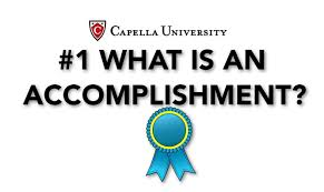 what is an accomplishment what is an accomplishment