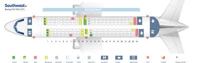 Boeing 737 700 Winglets Seating Chart Seat Map Boeing 737 700 Southwest Airlines Best Seats In Plane