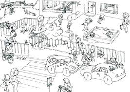 School Playground Coloring Pages Playground Coloring Pages School
