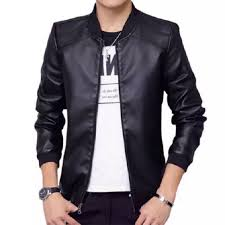 Emw Mens <b>Classic Fashion Pu Leather</b> Jacket | Shopee Philippines