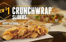 taco bell crunchwrap sliders.  Sliders Taco Bell Releases 1 Crunchwrap Sliders Today With E