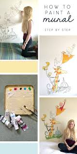 how to paint a wall mural