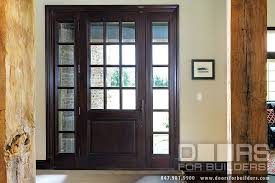 custom solid mahogany wood door with two sidelites clear for solid wood entry doors with glass