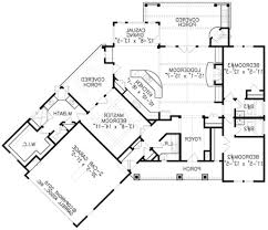 bedroom house plans no garage split six