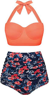 Angerella Orange Slimming Swimsuits For Women Tummy Control