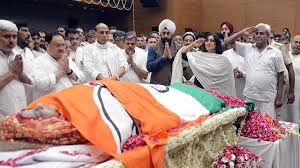 Sushma Swarajs Funeral Former Union Minister Cremated With State