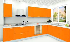 white wall color and modern orange kitchen cabinet for best colour combinations combination indian modular pictures