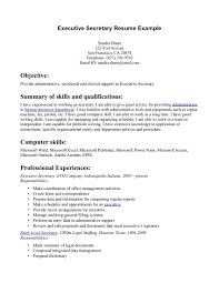 Secretary Resume Objective Examples Examples Of Resumes