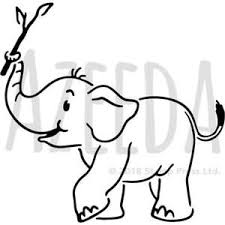 Baby Elephant Template A4 Baby Elephant Wall Stencil Template Ws00019843 Ebay