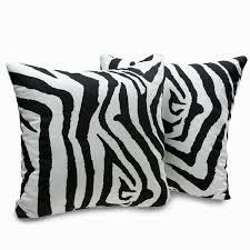Zebra Print Decorative Pillows