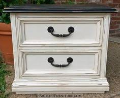 distressed white furniture. Off White Refinished Furniture Distressed T