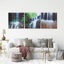 Painting Canvas For Living Room 3 Cascade Large Waterfall Framed Print Painting Canvas Wall Art