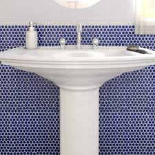 SomerTile 12x12.625-in Penny Cobalt Blue Porcelain Mosaic Floor and Wall  Tile (10/Case, 10.2 sqft.) - Free Shipping On Orders Over $45 -  Overstock.com - ...
