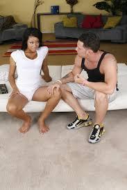 XXX porn teev duab Big tit babe Rihanna Rimes sucking a white.