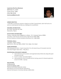 Esl Resume Examples Examples Of Resumes