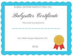 babysitting certificates barbie babysitters inc skipper doll brown hair baby in